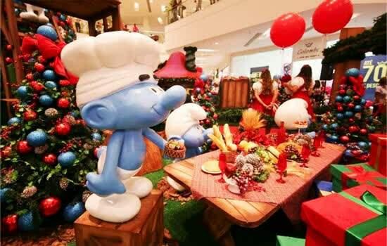 Atrium Shopping Lanca O Natal Dos Smurfs