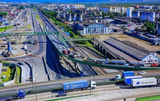 Entrega de segundo viaduto para a Nova Entrada de Santos aconteceu nesta quarta-feira, dia 08