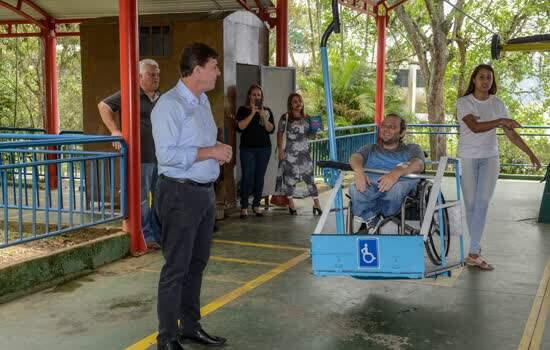 Em São Bernardo, teleférico do Parque Estoril ganha primeira cadeira adaptada para cadeirantes da América Latina