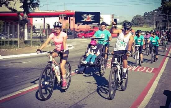 Passeio em Ribeirão Pires conscientiza sobre respeito aos ciclistas