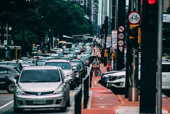 Trânsito na Avenida Paulista