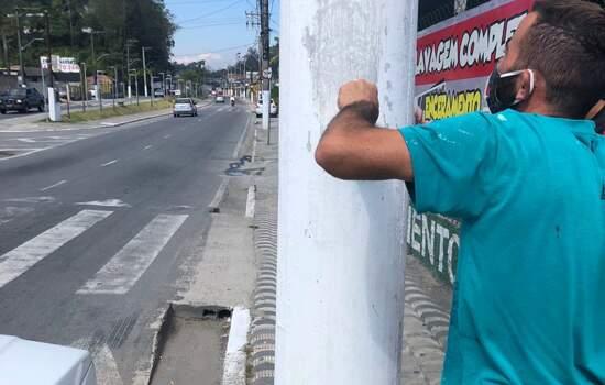 Em Ribeirão Pires, Pilar Velho e Av. Coronel Oliveira Lima recebem manutenção