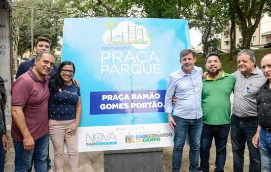 No bairro Santa Terezinha, prefeito Orlando Morando entrega 27ª Praça-Parque de São Bernardo