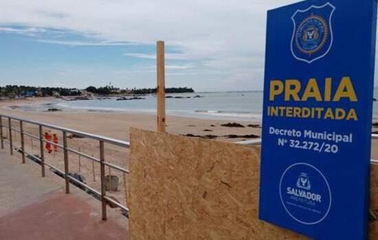 Depois de quase cinco meses abertas, as praias de Salvador voltarão a ser proibidas