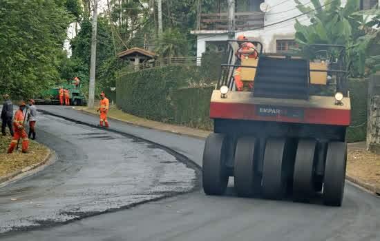 Prefeitura conclui pavimentação da Avenida Ribeirão Pires