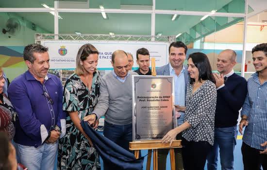 Nesta segunda-feira (18/11), a Prefeitura de São Caetano realizou a entrega das obras de revitalização da EMEF Professor Rosalvito Cobra, no Bairro Santa Maria - Continue lendo
