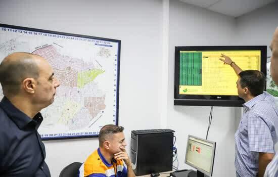 Auricchio visita central dos semáforos inteligentes de São Caetano