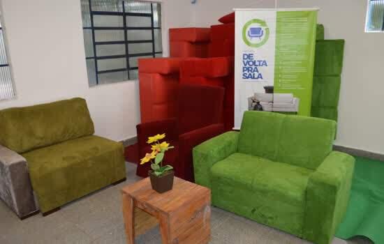 Interessados poderão conhecer de perto trabalho que transforma sofás descartados e promove geração de emprego e renda