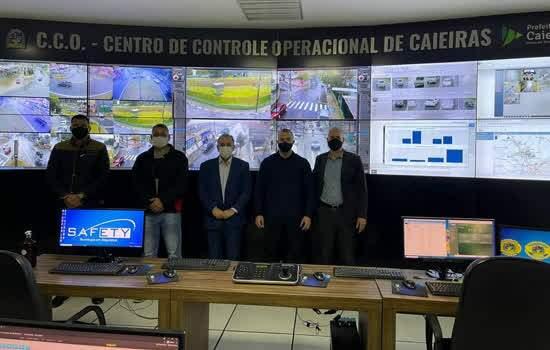 Secretário de Segurança de Ribeirão Pires conheceu o Sistema de Monitoramento Inteligente de Caieiras
