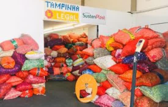 Tampinha Legal arrecada mais de 675 toneladas de tampas plásticas em 5 anos