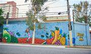 Ação promove o grafite aos alunos da rede pública com desenhos sobre alimentação saudável  - Continue lendo