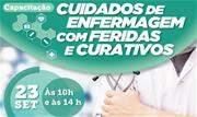 """Palestra gratuita ministrada por especialista no setor abordará """"Cuidados de enfermagem com feridas e curativos"""" - Continue lendo"""