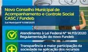 Medida atende à Lei Federal N° 14.113/2020 que regulamentou novo Fundo de Manutenção e Desenvolvimento da Educação Básica - Continue lendo