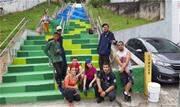 Ação foi realizada por alunos do curso de grafite, promovido pela Divisão de Ações para a Juventude (Dajuv) - Continue lendo