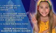 A atriz e cantora mirim, Sophia Marie, participa de nova fase do reality show 'The Voice Kids', desta vez apresentado ao vivo, com votação popular, no próximo domingo, dia 27 - Continue lendo