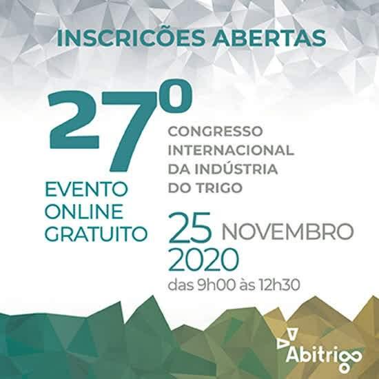 Congresso do Trigo 2020 será online e gratuito, no dia 25 de novembro, das 9h às 12h