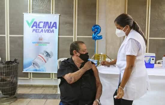 Em São Bernardo, vacinação contra a Covid-19 avança com aplicação da 2ª dose em idosos de 69 a 71 anos
